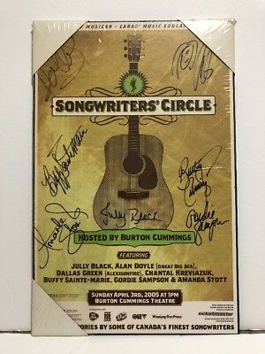 SONGWRITERS' CIRCLE Concert Poster (2005) Signed by Canada's Finest Songwriters