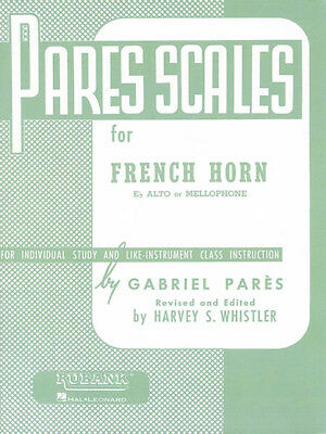 Pares Scales French Horn in F or E flat Mellophone Music Lessons Rubank Book NEW