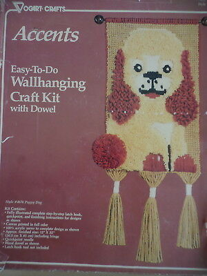 Vogart Crafts Accents Easy To Do Walhanging Kit With Dowel Dog 30.5 X 81 Cm