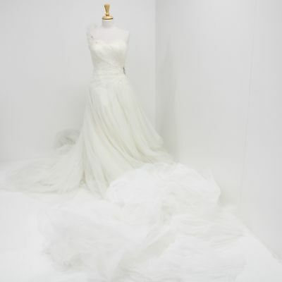 Rina di Montella Ivory Diamante Embellished Wedding Dress Pure Silk Tulle #209