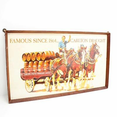 Vintage Carlton Draught 'Famous Since 1864' Framed Poster Ad Print #460