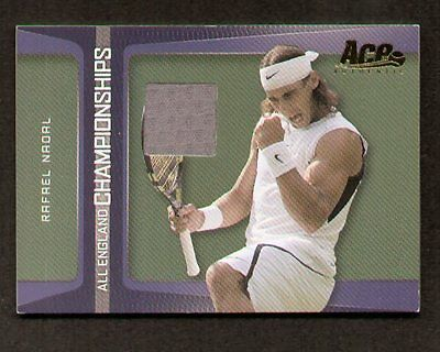 Rafael Nadal 2007 Ace All England Championships Swatch/Stoff Match-Worn EC-1
