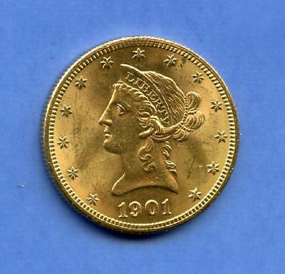 USA 10 Dollars 1901 Super Stgl Gold