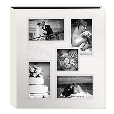 """Pioneer Collage Frame Embossed """"wedding"""" Sewn Leatherette Cover Photo Album, -"""
