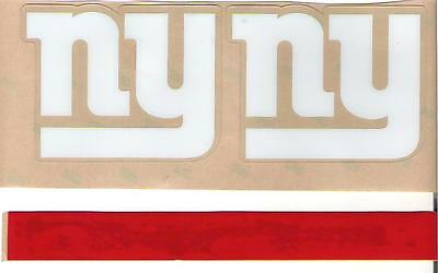 New York Giants Full Size FOOTBALL HELMET DECALS W/STRIPE & BUMPERS
