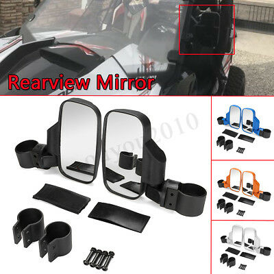 Mirror Set UTV Side View High Impact Break Away Convex For Polaris 800 900 1000
