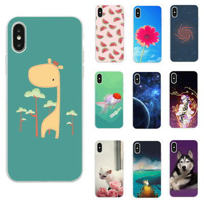 For Alcatel 3V 3X 3C 3 3L Cell Phone Protective TPU Cover Case deer cat dog