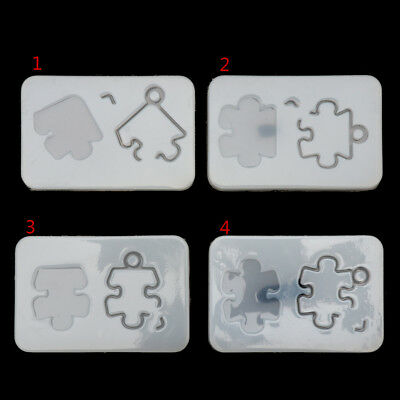 Puzzle Pendant with hole Silicone Mold DIY Resin Decorative Craft Jewelry Making