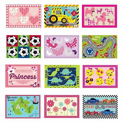 Kids Rug Boys Girls Mat Bedroom Playroom Home Accessory 12 Designs 60x90cm