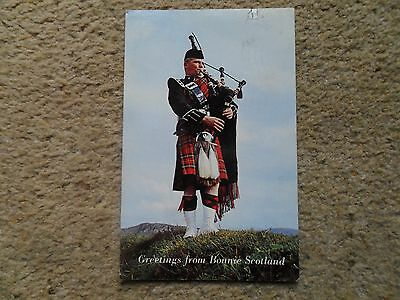 Postcard.greetings From Bonnie Scotland .pipe.posted From Castle Douglas 1966.
