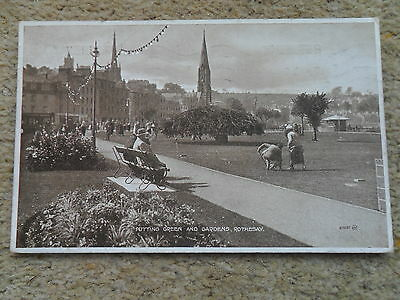 Vintage Postcard.rothesay Putting Green And Gardens.posted 14.8.24.valentines