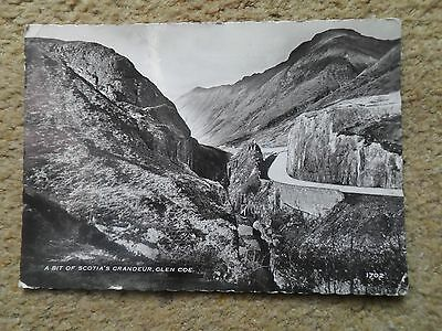 Black & White Real Photo.postcard. A Bit Of Scotia's Grandeur,glencoe. Posted.