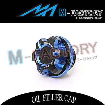 Motorcycle Engine Blue CNC T-Axis Oil Filler Cap Fit Triumph Speed Four Trident