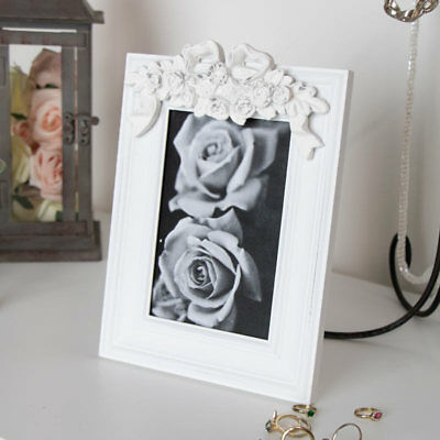 Ornate white photo frame vintage French decorative photograph picture display