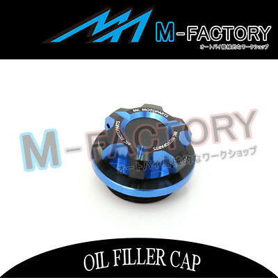 Motorcycle Engine Blue CNC T-Axis Oil Filler Cap Fit Kawasaki Z1000 ZX-9R Ninja
