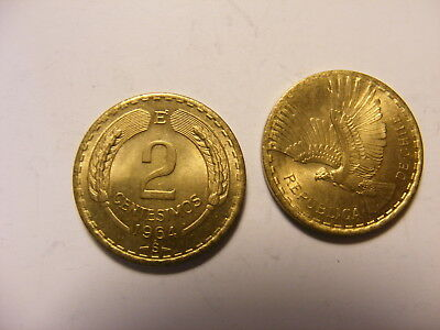 Chile 1964 2 Centavos, Uncirculated, KM#193