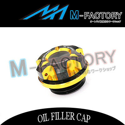 Motorcycle Engine Gold CNC T-Axis Oil Filler Cap Fit Yamaha FZR 1000 MT-10 MT-01