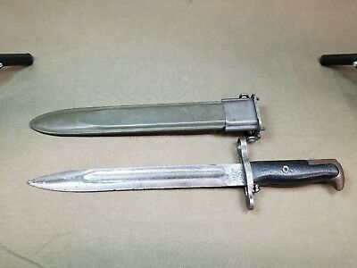 Military Bayonet Knife M1 Ufh And Scabbard
