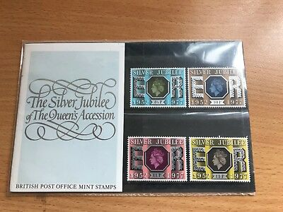 GB QE2 - 1977 Silver Jubilee - The PO Presentation Pack and a complete used set