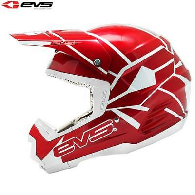 EVS Neon Blocks T5 Motocross MX Enduro Motor Bike Helmet - Large - CLEARANCE!