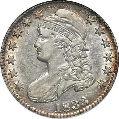 1833 Capped Bust Half Dollar XF / Extremely Fine 45, ANACS 50C C39096