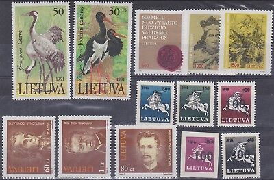 66) Lithuania - Lietuva  1990 / 1991  Mint Never Hinged Selection