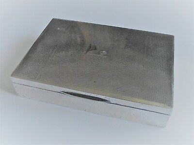 Antique Large silver art deco cigarette box hallmarked 1941