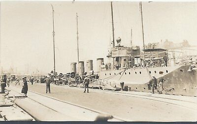 Rppc:  U S Navy Four Piper Destroyer  Panama Canal