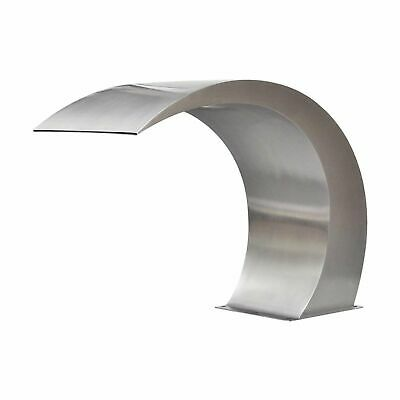 Small Moon Stainless Steel Waterfall - Cascade Spillway Weir - Swimming Pool Spa