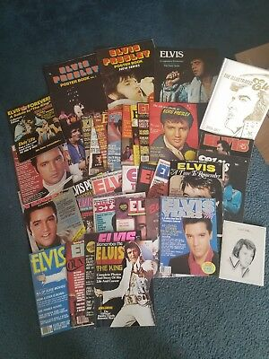 Elvis Presley Vintage Magazine Lot Of 35 1970's Plus More Extras!  *Very Rare*