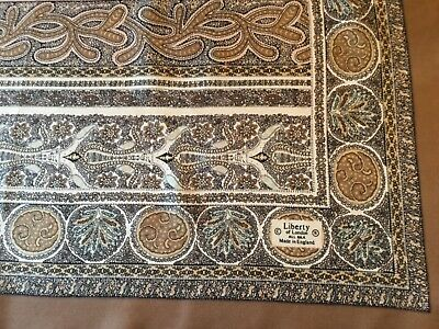 LARGE VINTAGE HAND ROLLED LIBERTY SILK SCARF.  VGC.  35 x 34 INCHES.  SUPERB! ]