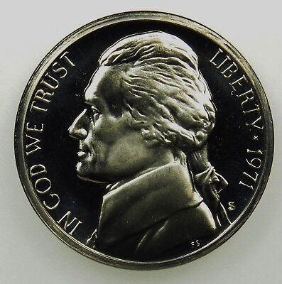 1971-S Proof Jefferson Nickel Full Steps Nice Coins Priced Right Shipped FREE