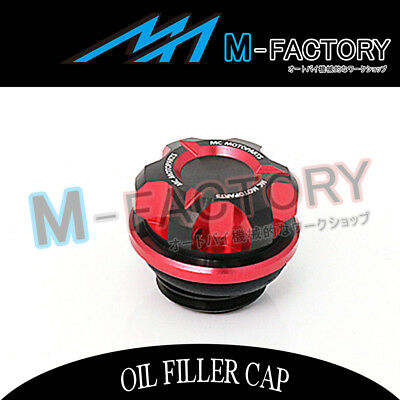 Motorcycle Engine Red CNC T-Axis Oil Filler Cap Fit Kawasaki Versys 1000 650