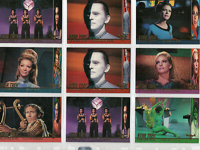 Star Trek TOS Season 3 - Lot Of 9 Profiles chase cards EX Skybox 1999