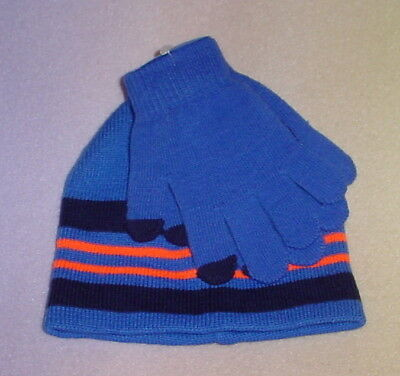 Boys Tech Knit Hat And Glove Set * Blue  * One Size * New **