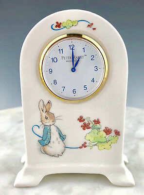 PETER RABBIT CLOCK DOME Wedgwood England Beatrix Potter Nursery FREE SHIPPING