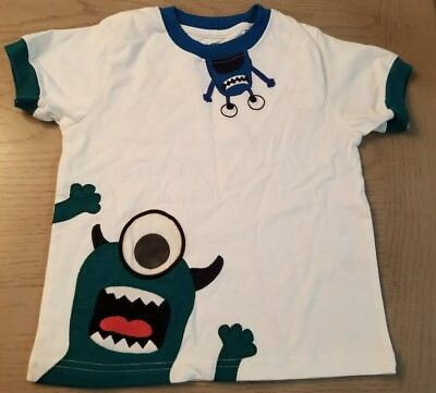 Gymboree SPACE VOYAGER White Aliens/Monsters Shirt Top 3T NWT