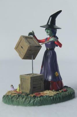 Dept 56 Snow Village 'Moving With Magic' Witch-Halloween #6002303 New In Box