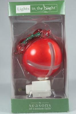 Midwest Lights In The Night 'Jingle Bell' Night Light Swivel Plug Base New In Bx