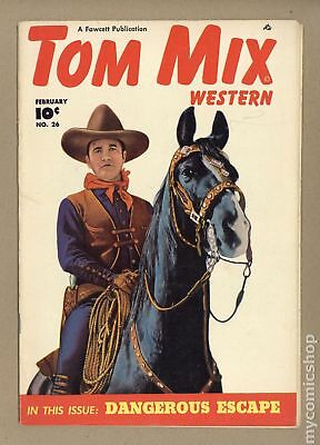 Tom Mix Western (Fawcett) #26 1950 VG+ 4.5