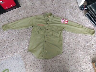 Vintage Boy Scouts Long Sleeve Uniform Shirt Cedar Springs Alabama 146