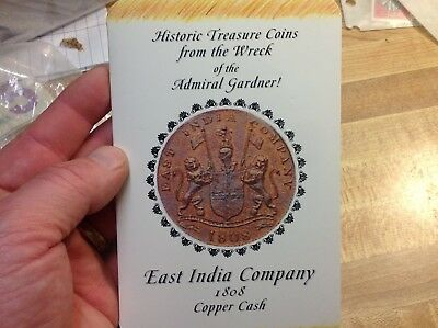 1808 East India British 10 And 20 Cash Coins Story -Admiral Gardner Shipwreck **