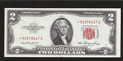 1953 $2**star**united States Note */a Block   Free Usa Shipping