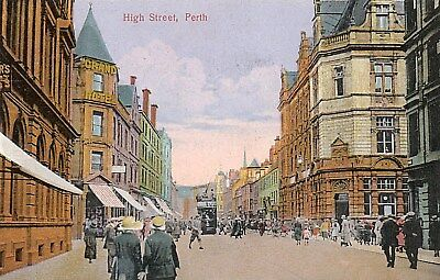 Perth,The High Street: Busy Edwardian Street Scene.SEE SCANS