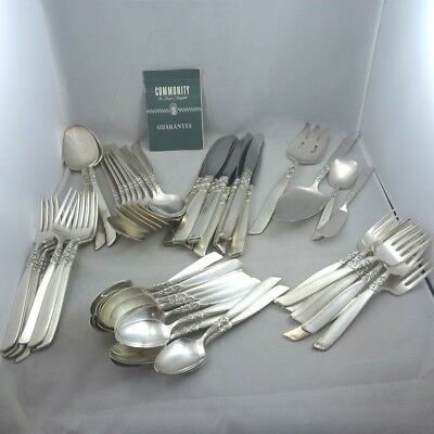 Vintage Community Silver Plated Flatware Set or Craft Lot South Seas 54 Pieces