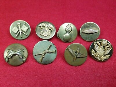Group Of Military Collar Discs Vintage