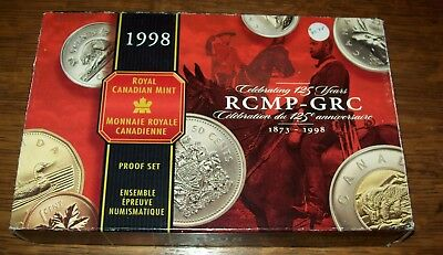 1998 Proof Set Royal Canadian Mint Rcmp-Grc 125Th Anniversary! 1873-1998