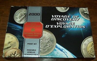2000 CANADIAN SPECIAL EDITION PROOF SET Voyage of Discovery with Box & COA