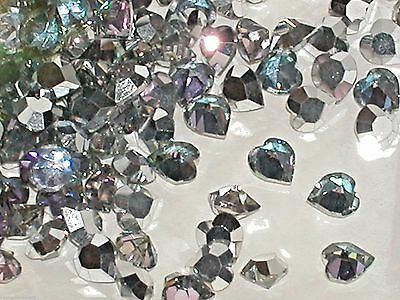 10pc New Vitrail rainbow Swarovski Heart Crystals wholesale flat gem 5x5.5mm