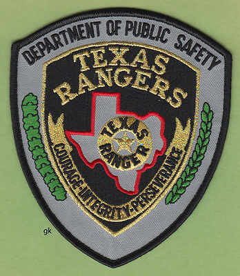 Texas Rangers Dps  Dept. Of Public Safety  Police Shoulder Patch